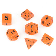 7pc Orange Glow in the Dark Luminous dice set D&D D20 RPG TSR polyhedral