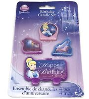 Disney Princess Cinderella Birthday Candles Set Of 4 Brand New