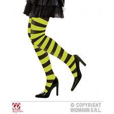 Green & Nero a Righe CERCHIO Collant Strega Halloween Fancy Dress Collant