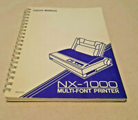 NX-1000 multi-font printer USER'S MANUAL