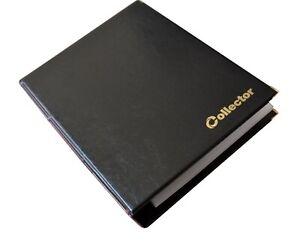Collector Banknotenalbum für Verschiedene Banknoten Größen mit 10 Seiten Schwarz