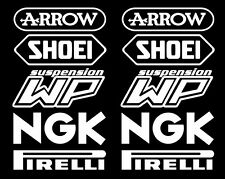 Arrow Shoei Motorsport Sponsoren Aufkleber Racing Set für Motorrad Auto