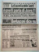 GAZZETTA DELLO SPORT 3-2-1986 BERLUSCONI NO AL MILAN CESENA-CATANZARO 2-0