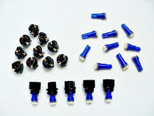 "15 Blue Instrument Panel Dashboard Lights Bulbs LEDs 3/8"" Sockets Fits Imports"