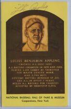 1980s Luke Appling Autograph Signed HOF Plaque Postcard Chicago White Sox