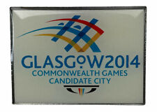 Glasgow 2014 Commonwealth Games Candidate city White Red Blue Yellow pin badge