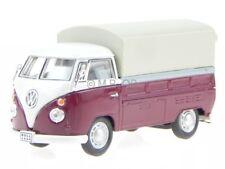 VW T1 Prische Plane rojo coche en miniatura in Vitrine Cararama 1:43