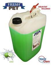 25L Fresh Pet cuccia cane/gatto DISINFETTANTE, PULITORE, deodorare Lime RUBINETTO INC