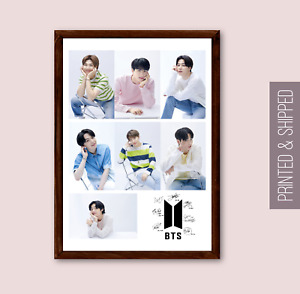 BTS Photo Collage Jungkook Suga J-Hope V Jin Jimin RM Bangtan Boys KPOP Photos