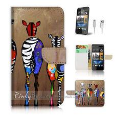 ( For HTC Desire 310 ) Case Cover! Art Zebra P0049
