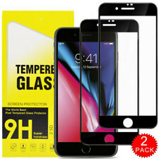 For iPhone SE 8 7 6S 6Plus 9H Cover Anti-Scratch Tempered Glass Screen Protector