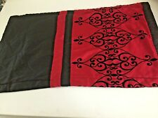 Sl Home Fashions Red Black King 1 Pillow Sham Polyester 20x36