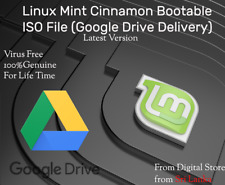 NEW 19.1 Tessa  Linux Mint Cinnamon 64 bit Bootable File Google Drive Delivery