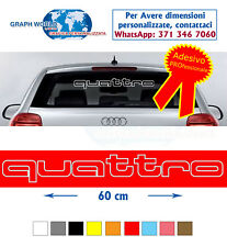 ADESIVI AUDI lunotto A1 A3 A4 A5 A6 Q3 Q5 Q7 TT S line decal stickers