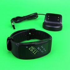 Samsung Gear Fit2 Pro Fitness Smartwatch SM-R365 Aluminum Case Black Large size