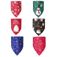 Weihnachten Hund Katze Bandana Haustier Halstuch Dreieck Schal Schneeflocke