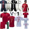 18/19 Football Kit Kid Boy Soccer Strips Jersey 3-14Y Training Club Outfit Socks