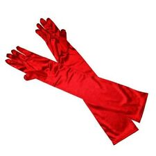 LADIES LONG OPERA EVENING SATIN FINGER GLOVES PARTY DRESS PROM
