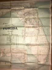 """New Listing1917 Florida Dept of Agriculture Map, 33"""" x 45"""" Rare, unusual. Richly-detailed"""