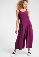 ATHLETA Sayulita Jumpsuit Romper Sz 4 S SMALL Velvet Plum Summer Travel