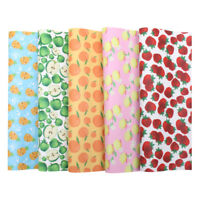 22*30cm Pineapple Friuts Printed Leather Fabric DIY Hair Bow Crafts Material