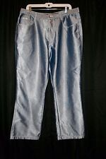 RVT Jeans Pants Shiny Retro Serve Piping Hot Size 20 Inseam 29 Inches Cute