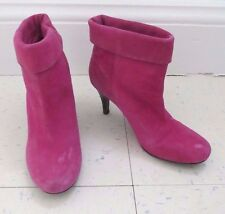 Aldo hot pink suede boots boot booties heel heeled womens size 36 (US 5)