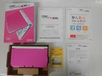 Z4381 new Nintendo 3DS LL XL console Pink x White Japan w/box