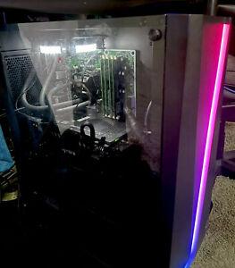 GAMING PC INTEL I7 GTX 570 Aigo Liquid Cooler Corsair RM650 10gb Ram Windows 10