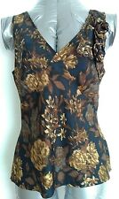 Designer LK BENNETT Silk blouse top size 10 --BRAND NEW-- 100% Silk