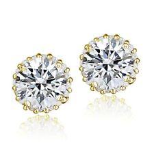 Screw Back (pierced) Gold Sterling Silver Fine Earrings