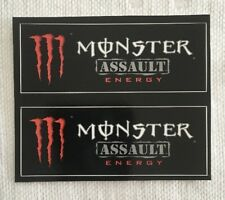 Monster Energy Drink ASSAULT Stickers (2) Unused NOS