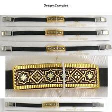 Damascene Gold Bracelet Rectangle Star of Redemption  Midas of Toledo Spain 8013