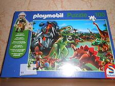 """PLAYMOBIL puzzle 100 pièces + 1 personnage """"pays des dinosaures"""" - sous blister"""