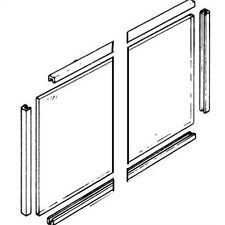 Glass Panel & Seals to suit Parkray Chiltern Cumbria 2 x 279mm x 187mm