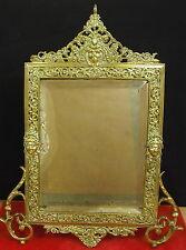 Agréable miroir biseauté en bronze d'époque Napoléon III  mirror vintage Spiegel
