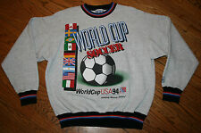 1994 World Cup Soccer USA Sweatshirt shirt Men XL X-Large flags/The Game vintage