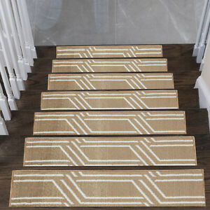 Stair Treads Plaza Collection Contemporary and Soft Stair Treads, Pack of 4/7/13