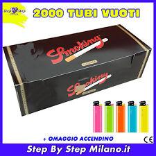 2000 tubetti Tubi SMOKING con filtro SIGARETTE VUOTE + OMAGGIO accendino