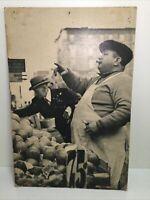 """Rare Erika Stone Photography """"Fruit Peddler on Orchard Street"""" Signed."""