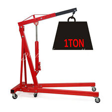 1 Ton Tonne Hydraulic Folding Engine Crane Hoist Lift Stand Jack Lifter Workshop