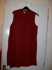 Ladies Red Sleeveless Long Length Top Size 10 River Island