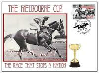 MELBOURNE CUP HORSE RACING COVER, RED HANDED 1967
