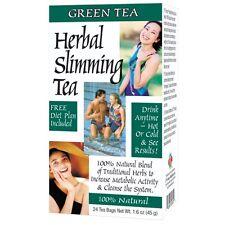 Herbal Slimming Tea, Green Tea, With Diet Plan - 24 Tea Bags 45g - 21st century