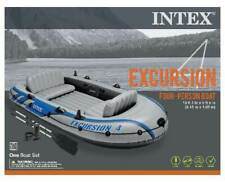 INTEX Excursion 4 Inflatable River/Lake Raft Set | 68324EP (Lightly Used)