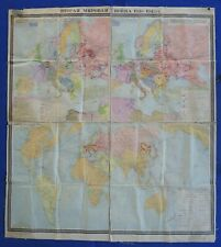 "USSR WALL MAP / Second World War 1939-45/ Vintage Soviet Russian POSTER 1.8m=70"""