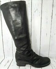 Fiorentini + Baker Black Leather Zip Riding Boots Women US 9 EU 39 Made in Italy