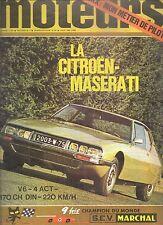 MOTEURS 78 1970 PORSCHE 914 CITROEN SM LIGIER JS1 MONTE CARLO GP AFRIQUE DU SUD