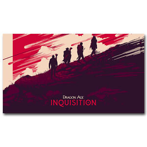Dragon Age Inquisition New Game Art Silk Poster Print 13x24 inch