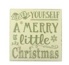 Shabby Chic Natale in Legno Keep Calm da Parete Placca Decorazione Novità di